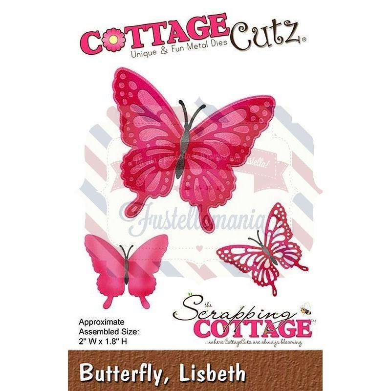 Fustella metallica Cottage Cutz Butterfly Lisbeth